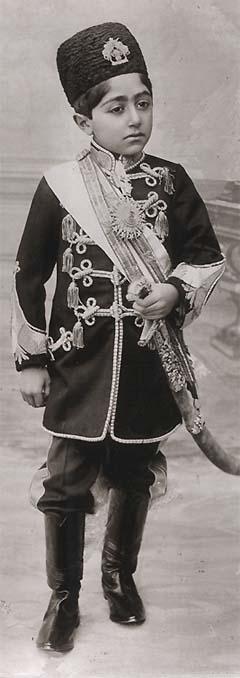 Ahmad Shah Qajar of Persia in 1909