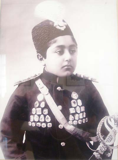 Photo of Ahmad Shah Qajar in the Niavaran Palace (Tehran)