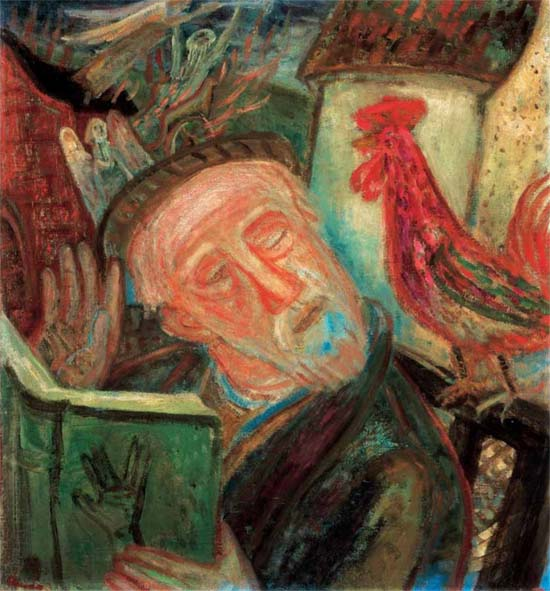 Imre Ámos: Dreaming rabbi, 1938