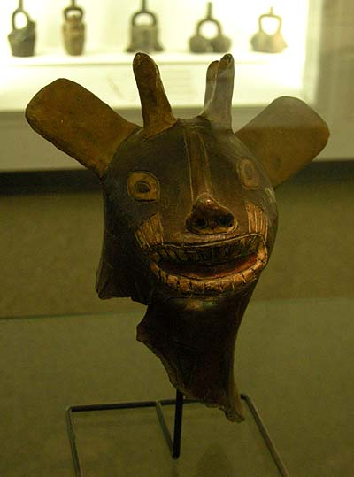 Berlin, Dahlem Museum, Mesoamerican ceramics: head of a dear