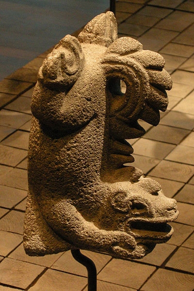 Berlin, Dahlem Museum, Mesoamerican ceramics: dog statue