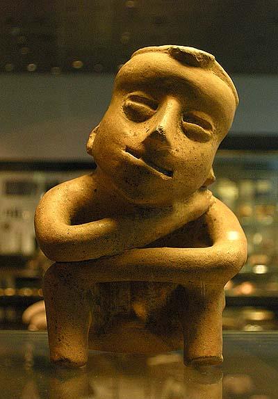 Berlin, Dahlem Museum, Mesoamerican ceramics: man