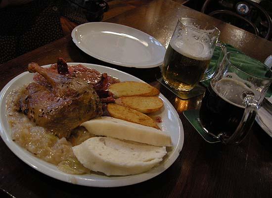Brno, Restaurant Švejk. A plate