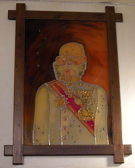 Brno, Restaurant Švejk, picture of Franz Josef
