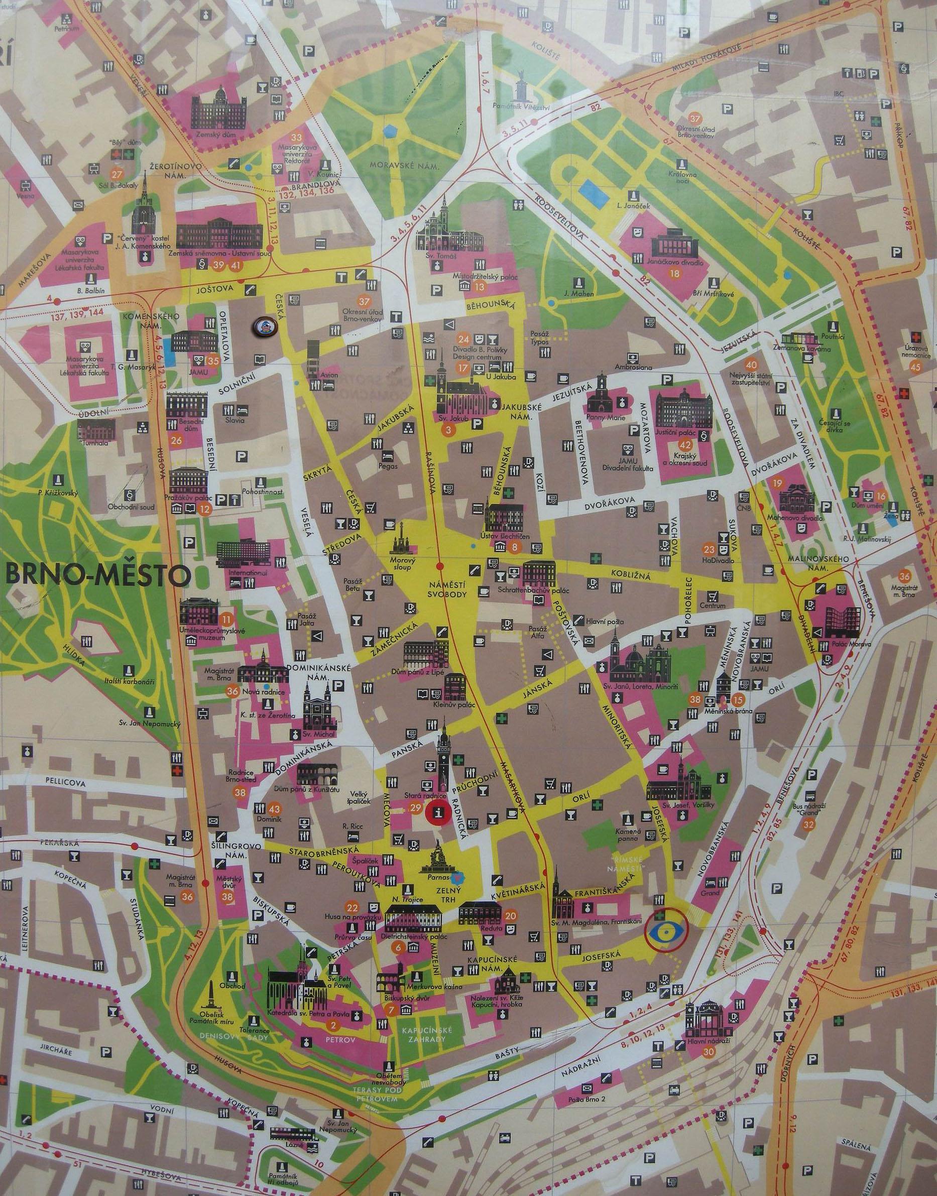 brno térkép Poemas del río Wang: Švejk in Brno brno térkép