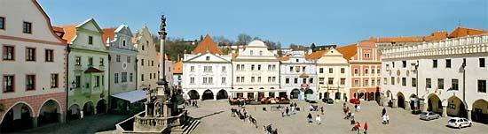 Český Krumlov, főtér
