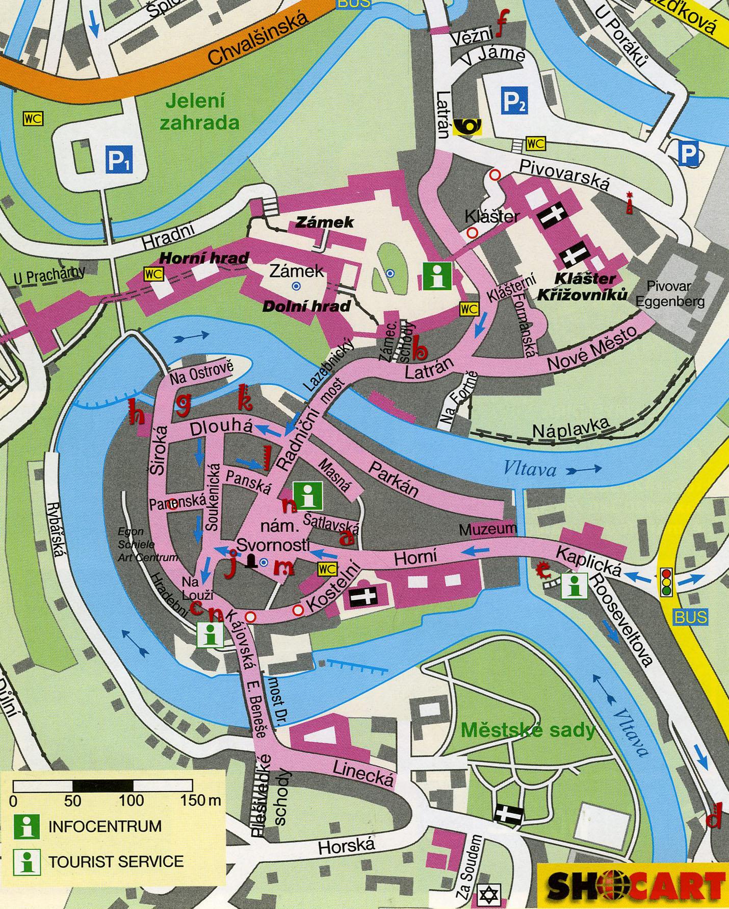 cesky krumlov térkép A Wang folyó versei: Český Krumlov, harmadszor cesky krumlov térkép