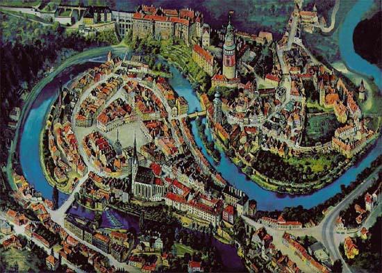 cesky krumlov térkép Poemas del río Wang: Český Krumlov cesky krumlov térkép