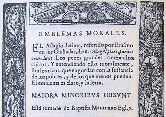 Covarrubias, Emblemas morales, 1611, Emblem I.88, commentary