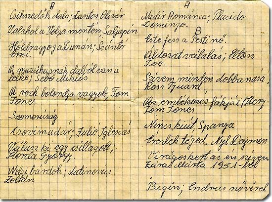 Kr. u. 20. századi csömöri sanzon-kazetta címleíró katalóguscédulája, ásatási lelet