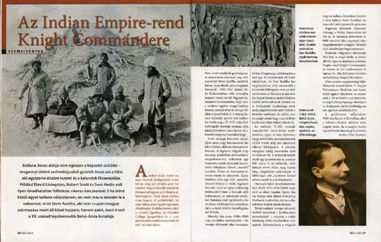 The article of Péter Erdélyi Eszkimó in the June edition of the GEO Magazine, with photos taken over without authorization from the Stein page (dunhuang.mtak.hu) of the Library of the Hungarian Academy of Sciences