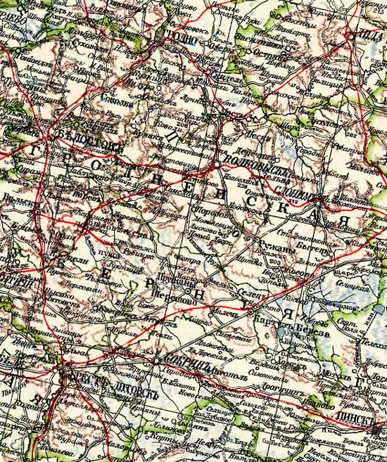 The Grodno Governorate from the Atlas of Marks/Marx, 1910