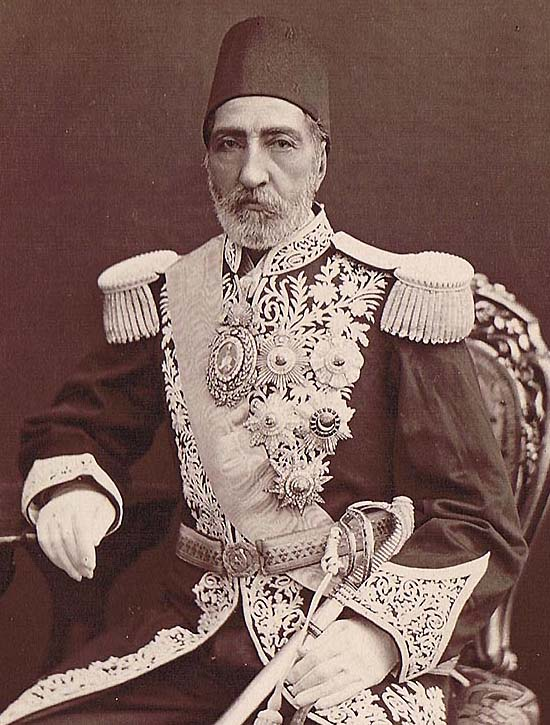 "The Persian Prince Soltan Morad Mirza ""Hessam Saltaneh"", son of Crown Prince Abbas Mirza (1789-1833), the outstanding general, conqueror of Herat (1856), and following it founder of the order ""Temssaal-e Amir-al-Mo'meneen""."