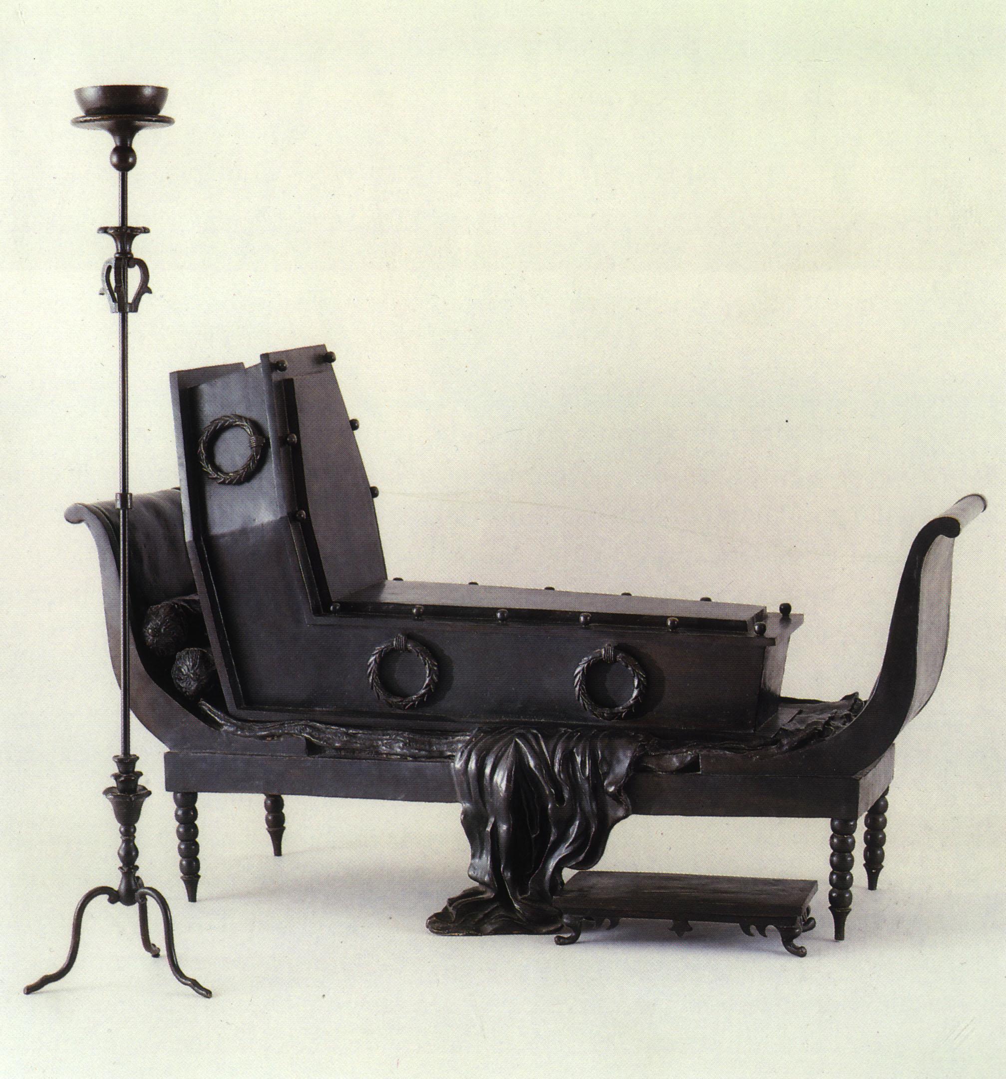 kurious ren magritte madame recamier of david 1967. Black Bedroom Furniture Sets. Home Design Ideas