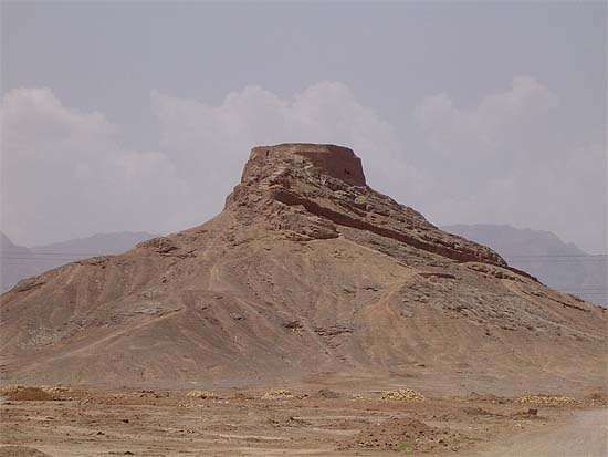 "Iran, Yazd, Zoroastrian ""tower of silence"" near to the town"