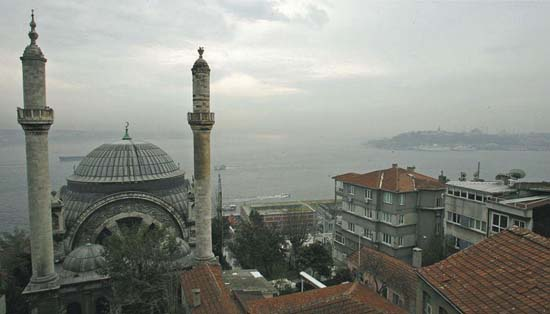 View of Istanbul from the window of Orhan Pamuk