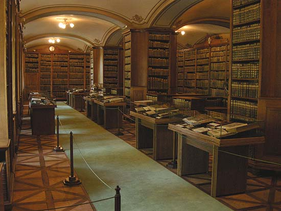 Biblioteca de la Catedral de Kalocsa, sala central
