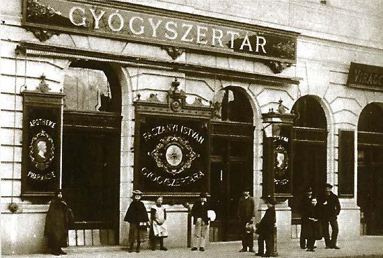Budapest, Fáczányi Gyógyszertár, 1910 körül