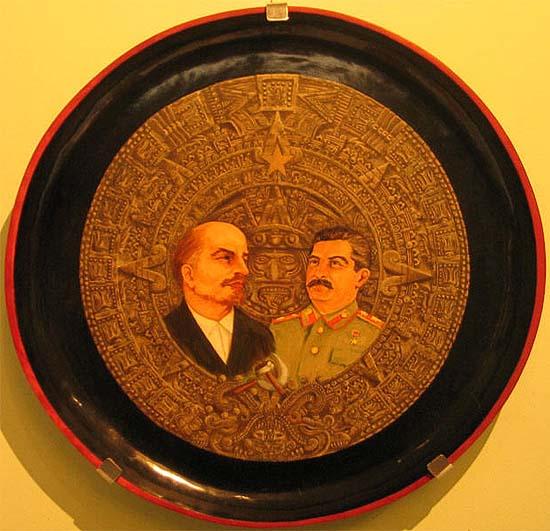 Lenin és Sztálin. A Mexikói Kommunista Párt ajándéka