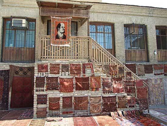 Lenin-szőnyeg Üzbegisztánban