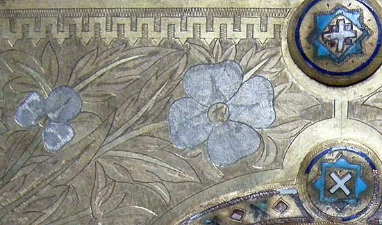 Back cover of the evangeliary of Malecz (Kalocsa), detail