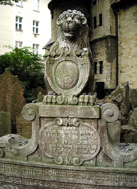 Prague, Old Jewish cemetery, tomb of Handel Bassevi