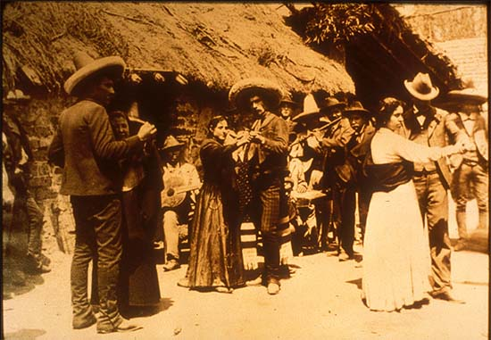 Mexico, Revolution. Soldiers dancing. Photo by Agustín Victor Casasola (1874-1938). Cf. http://content-s10.cdlib.org/ark:/13030/hb5x0nb6gc/?layout=metadata&brand=calisphere