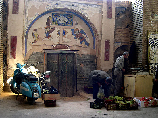 Fruit seller in the bazaar, Isfahan, Iran