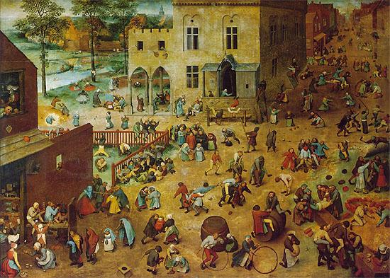 id. Pieter Brueghel, Gyermekjátékok (1560)