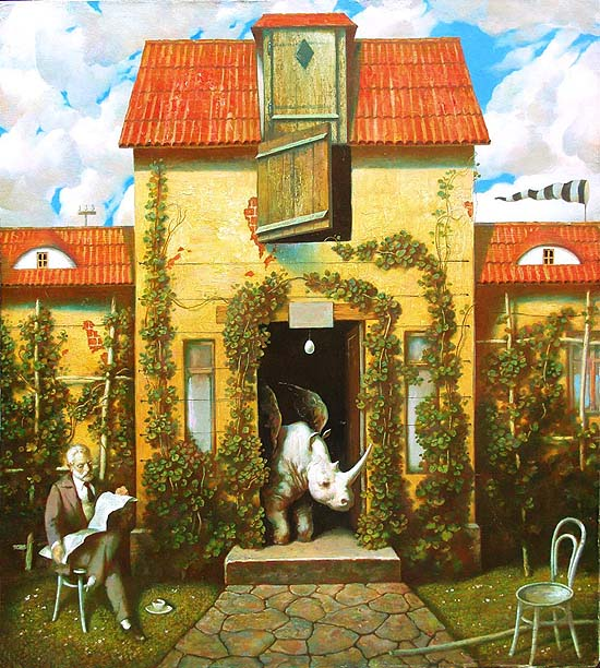 Oleg Dozortzev: A house of the winged rhinoceros, 2008