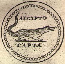 Roman coin, Aegypto capta