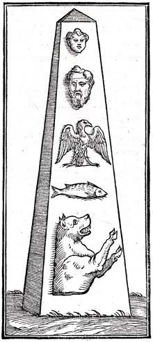 Valeriano, Hieroglyphica, Egyptian obelisque
