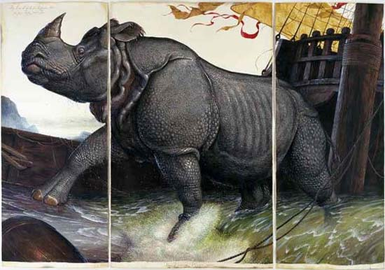 Walton Ford, Loss of the Lisbon Rhinoceros, 2008