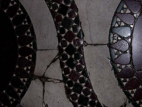 A Santa Maria Maggiore padlómozaikjának részlete