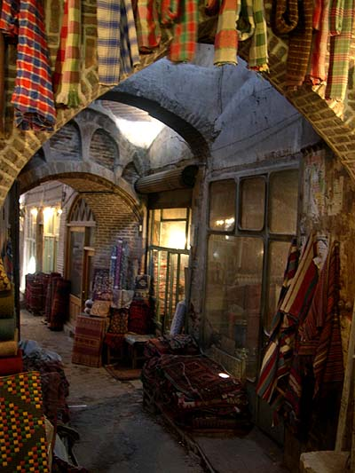 Treasures in the bazaar of Tabriz
