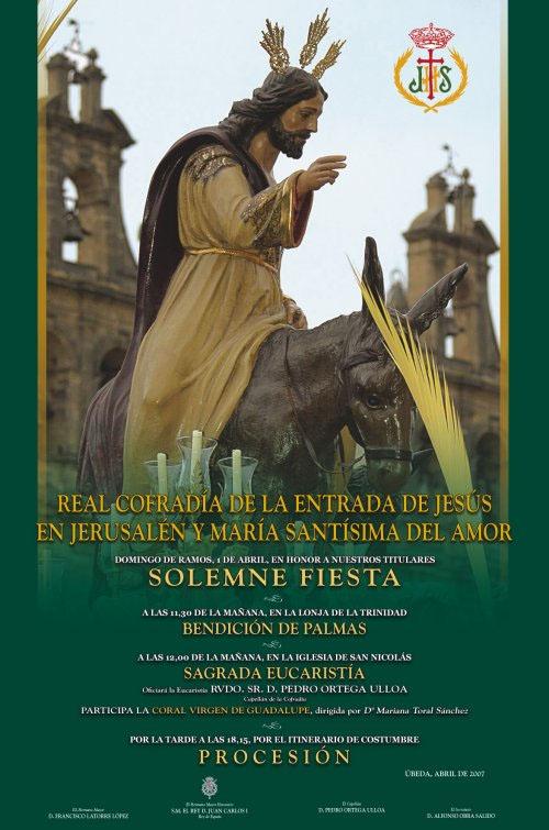 A nagyheti körmenetek plakátja, 2007, Úbeda, Spanyolország