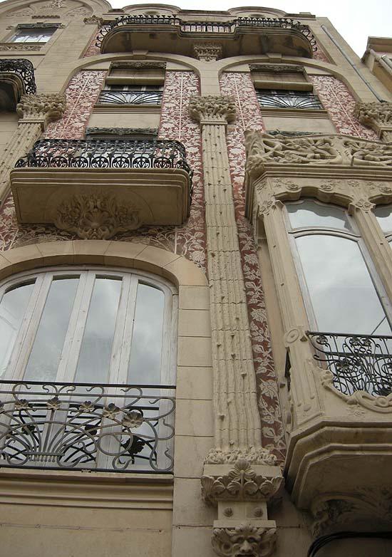 Valencia, szecessziós ház a főtéren