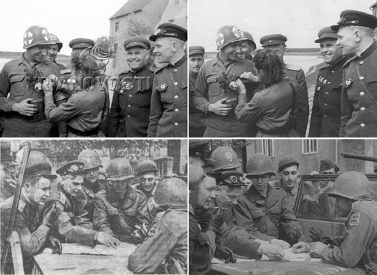 Photos of the similar scenes credited to Khomzor (left) and to Ustinov (right) differ by slight changes of the shooting angle. Were they working simultaneously or perhaps they shared photos for publications?